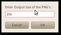 Tentukan ukuran PNG yang diinginkan (sebenarnya yang ditentukan cukup weight saja)